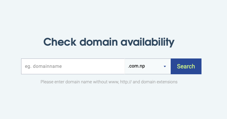 how to register com.np domain in nepal